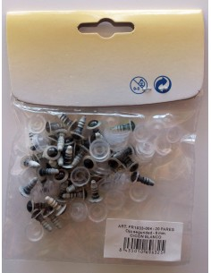 Bolsa 20 pares de ojos de seguridad blancos y negros de 8 mm para amigurumis